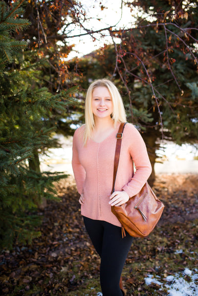Find Your Groove Sweater In Mauve - Thongin' It Boutique