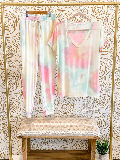 Living Our Best Life Tie Dye Joggers - Thongin' It Boutique