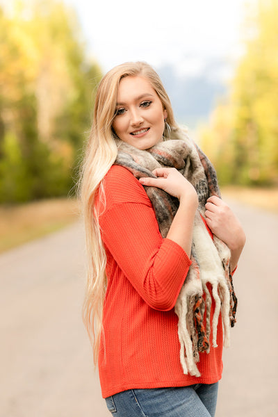 Wrap Me In Fall Scarf In Warm Spice - Thongin' It Boutique