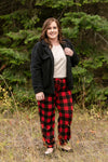 Winter In The Rockies Plaid Joggers - Thongin' It Boutique
