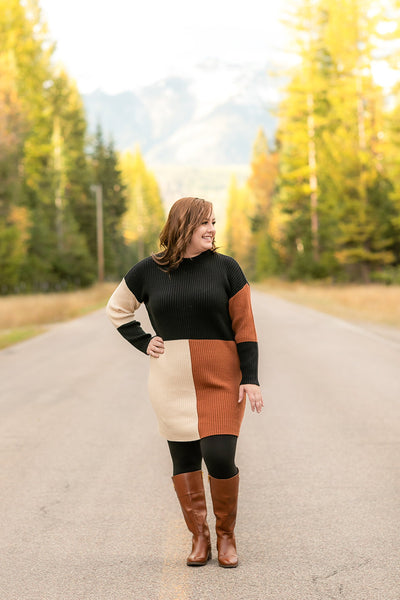 Too Fall To Handle Sweater Dress - Thongin' It Boutique