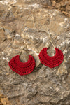 Simply Divine Earrings In Cranberry - Thongin' It Boutique