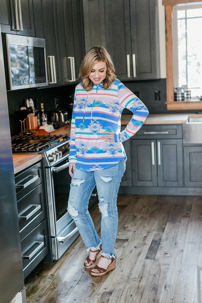 You Name It Aztec Hoodie - Thongin' It Boutique