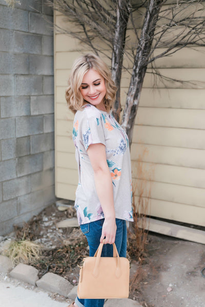 Wildflower At Heart Short Sleeve Top - Thongin' It Boutique