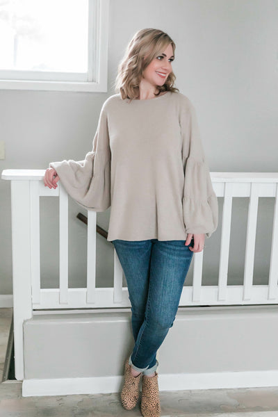 The Flutterbye Top In Sandstone - Thongin' It Boutique