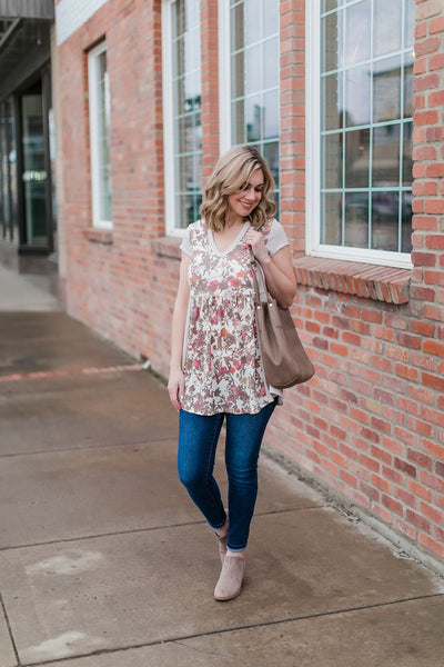 Swingin' By Tunic In Muted Florals - Thongin' It Boutique