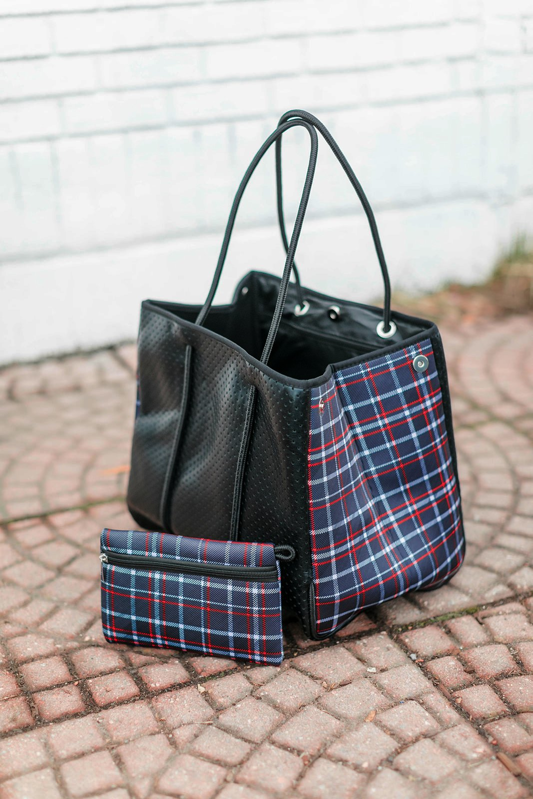The Be All, Catch All Bag In Peekaboo Bloom Plaid - Thongin' It Boutique