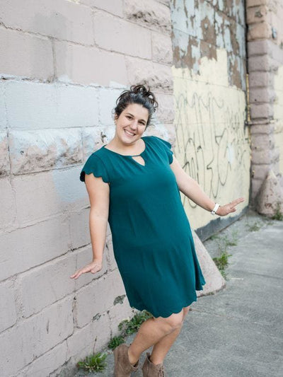Green Scalloped Dress