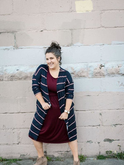 Striped Duster Cardigan | 2 Color-Sets Available