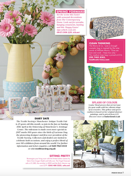Ideal Home Magazine Featuring Louise Mead Cushion