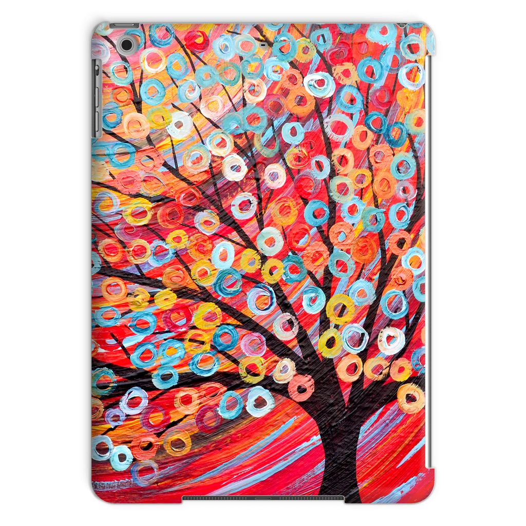 Red Abstract Tree iPad Case