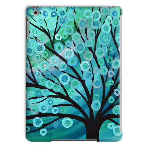 Teal & Turquoise Tree iPad Case