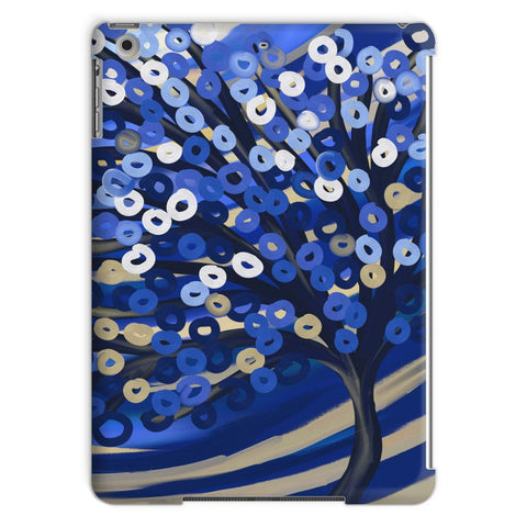 Blue & Gold Tree iPad Case