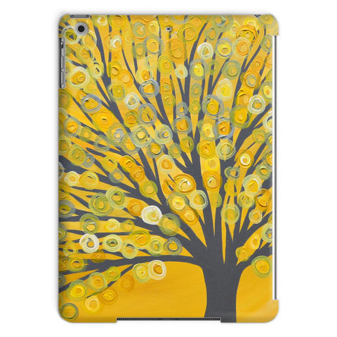 Yellow & Grey Abstract Tree iPad Case