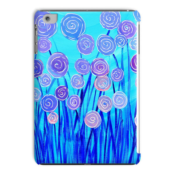 Blue & Lilac Flowers iPad Case