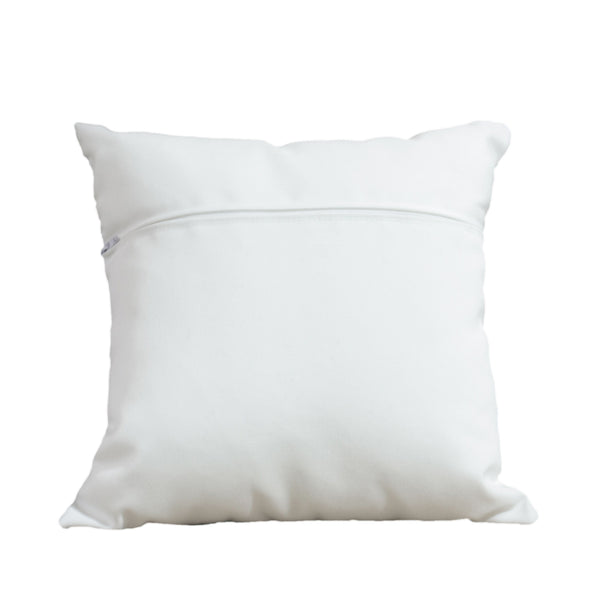 Blue & White Square Pillow