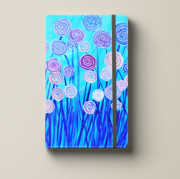 Blue & Lilac Flowers Journal