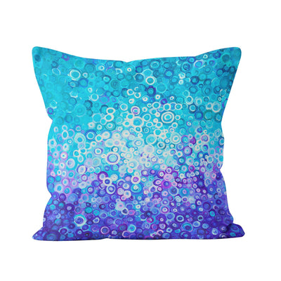 Blue Square Pillow - Louise Mead