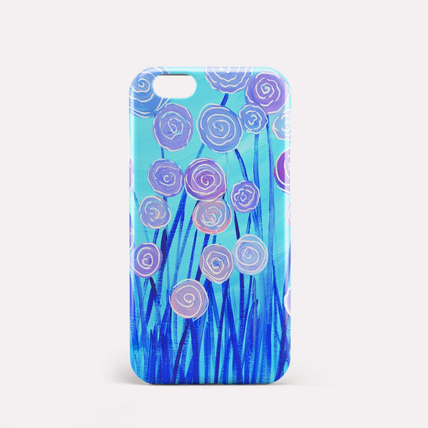 Purple & Blue Flowers iPhone Case - Louise Mead