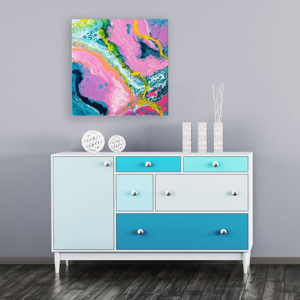 Louise Mead - Original Abstract Fluid Painting in Home Interior