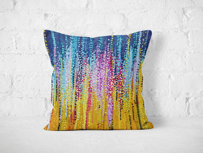Blue & Yellow Cushion - Louise Mead
