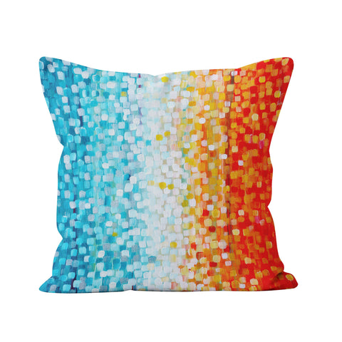 Orange & Turquoise Pillow - Louise Mead