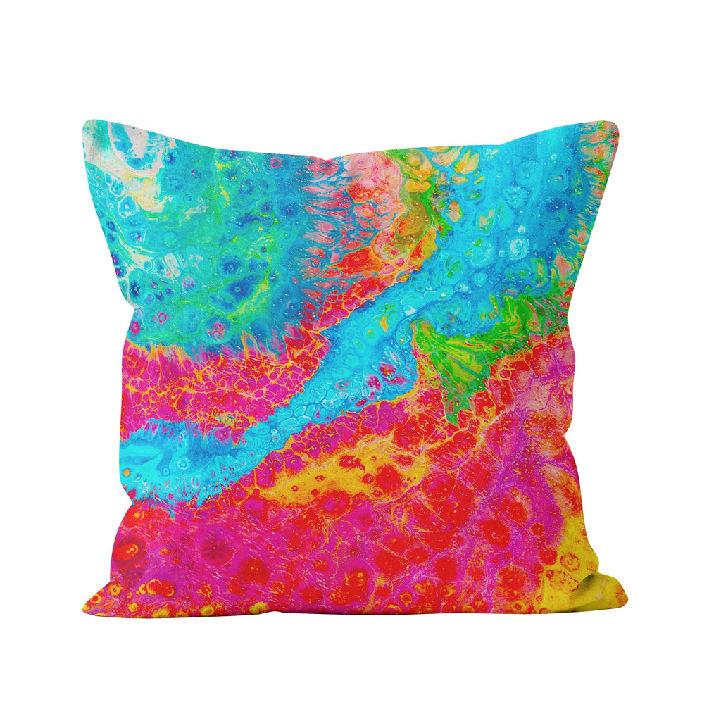 Turquoise & Pink Cushion