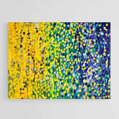 Summer Nights Abstract Impressionist Canvas Print by Louise Mead