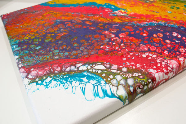 Falling Rainbows Abstract Painting - Louise Mead
