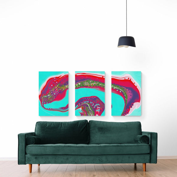 Flow Triptych Canvas Print