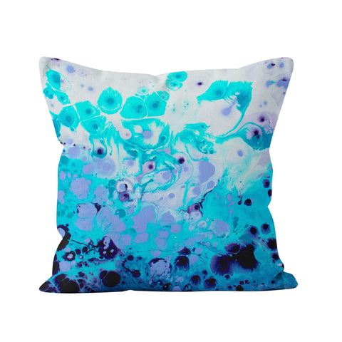 Frosted Petals Square Cushion - Louise Mead