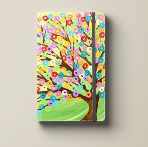 Green Colourful Tree Journal