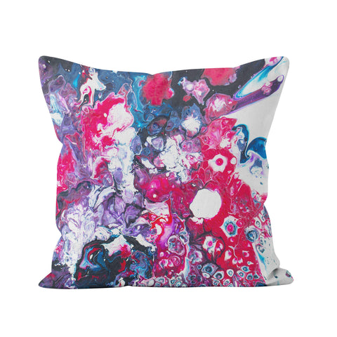 Pink, Purple, & Blue Cushion