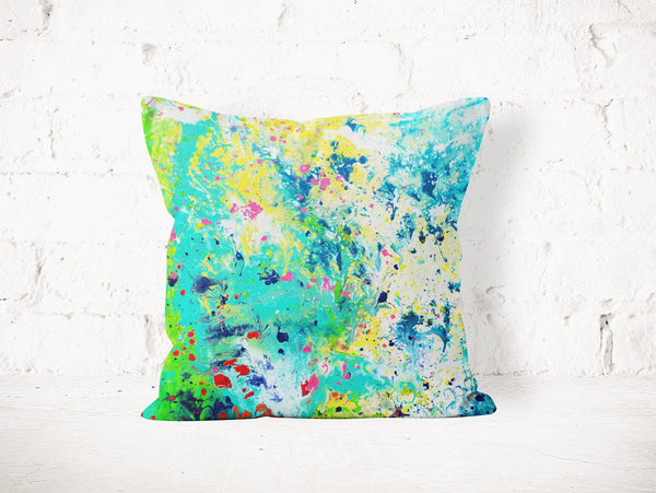 Green & White Pillow - Louise Mead