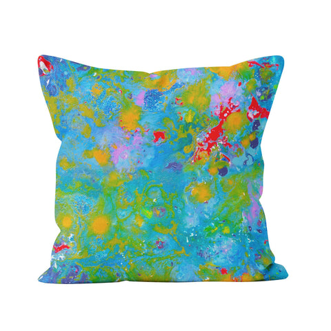 Blue & Orange Throw Pillow - Louise Mead