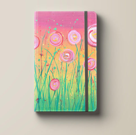 Pink & Green Flowers Journal