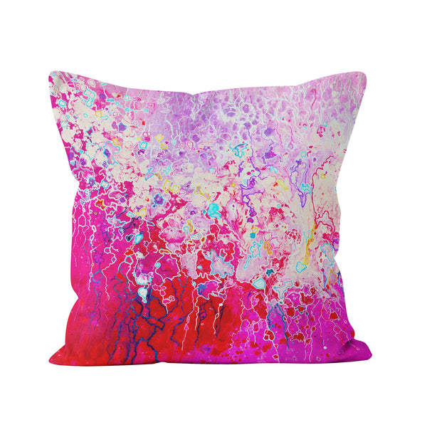 Pink Abstract Pillow - Louise Mead