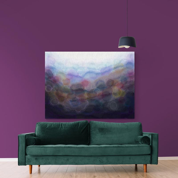 Purple 'Serenity' Canvas Print
