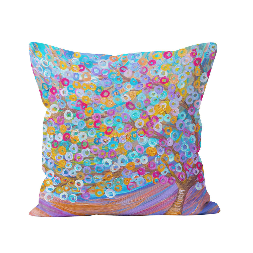 Purple Tree Pillow - Louise Mead