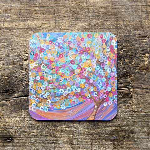 Purple Tree Coasters - Louise Mead