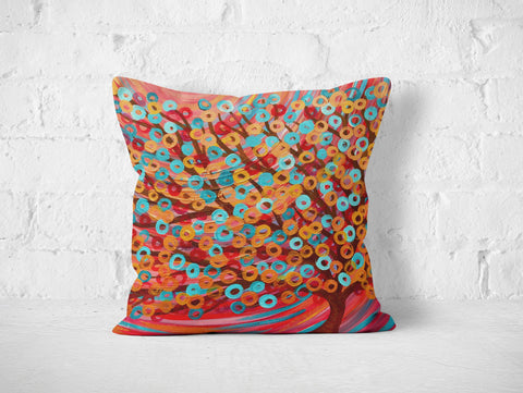 Red Tree Pillow - Louise Mead
