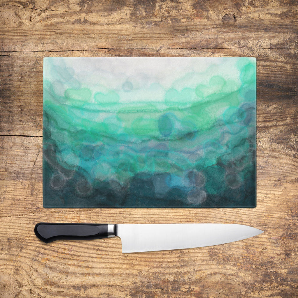Teal 'Serenity' Chopping Board