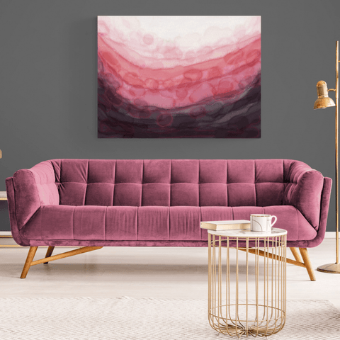 Pink 'Serenity' Canvas Print