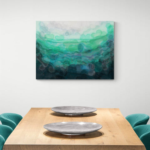 Teal 'Serenity' Canvas Print