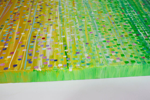 Spring Meadow Abstract Painting - Louise Mead