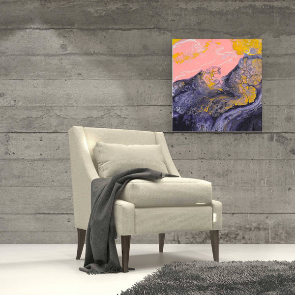 'Sun Blushed Shores' Abstract Painting - Louise Mead