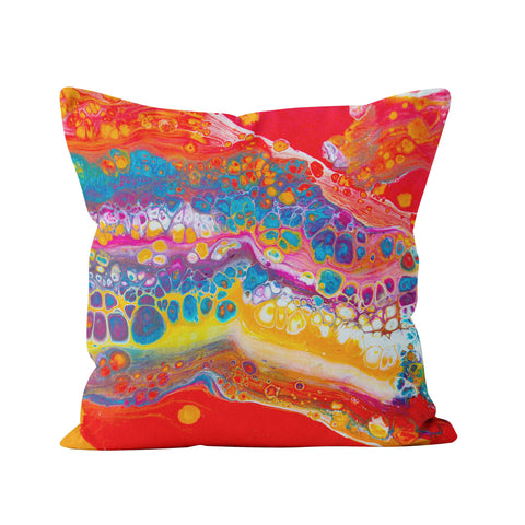 Red Square Pillow - Louise Mead