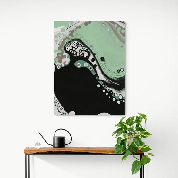 'Sweet Jade' Green Abstract Canvas Print