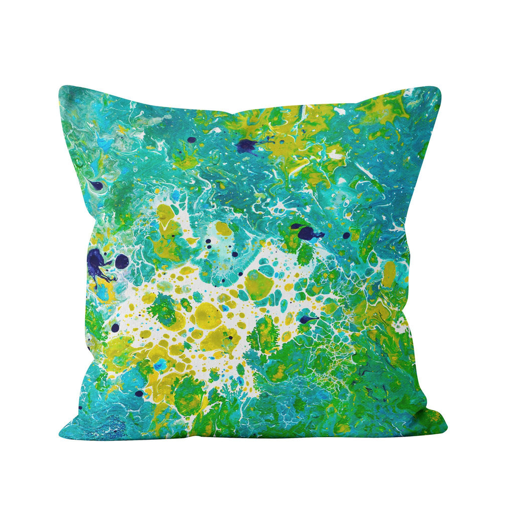 Teal & Green Square Pillow - Louise Mead