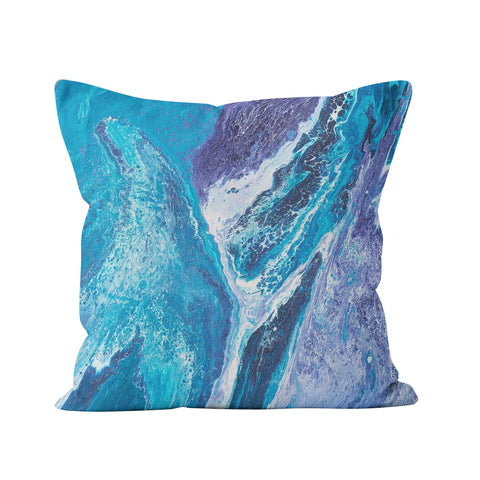 Blue & White Square Cushion